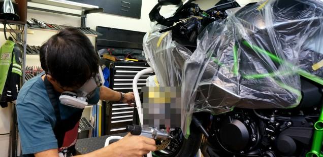 カワサキ H2 ヤマハR-1 フィルムコーティング ガラスコーティングについて