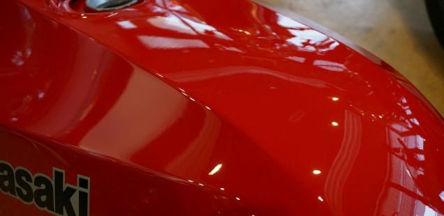 カワサキ GPZ900R パーツガラスコーティング SPフィルム施工