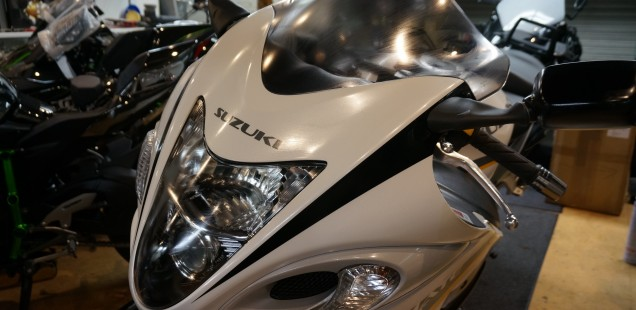 GSX1300R ハヤブサ バイクガラスコーティング 鎌ヶ谷 千葉県 東京都