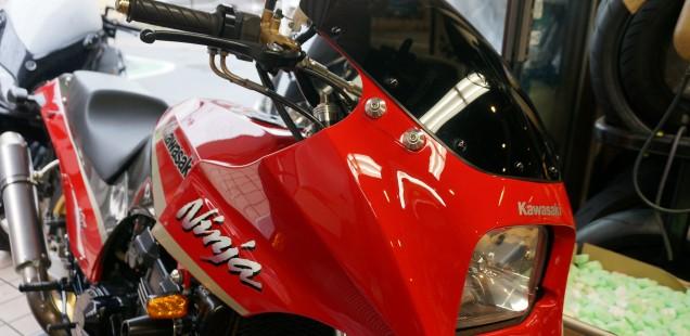 GPZ900R バイク ガラスコーティング 江東区 千葉県 松戸市