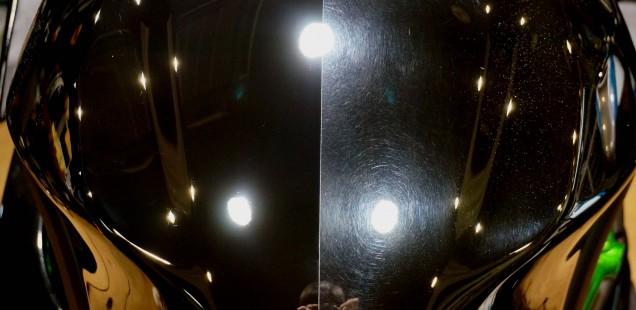 走行800Km カワサキH2の傷の具合です。 ガラスコーティング バイク フィルム コーティング