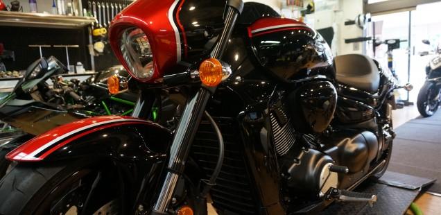 ブルバード M109R ガラスコーティング フィルムコーティング バイク ペイントプロテクションフィルム PPF 千葉県 東京都 関東