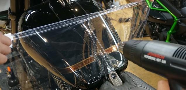 ペイントプロテクションフィルム PPF 施工方法の違いについて バイク